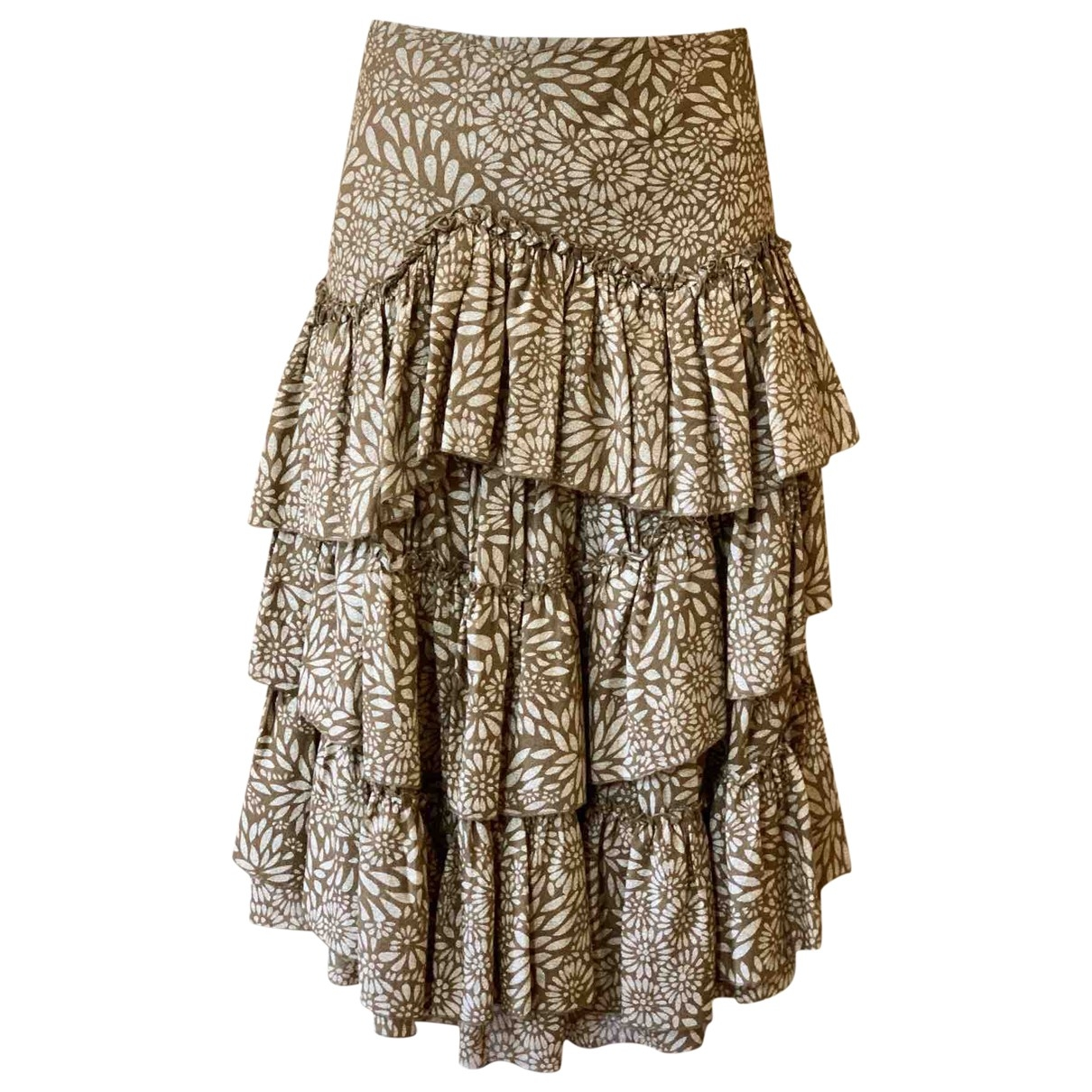 Ermanno Scervino \N Brown Wool skirt for Women 42 IT