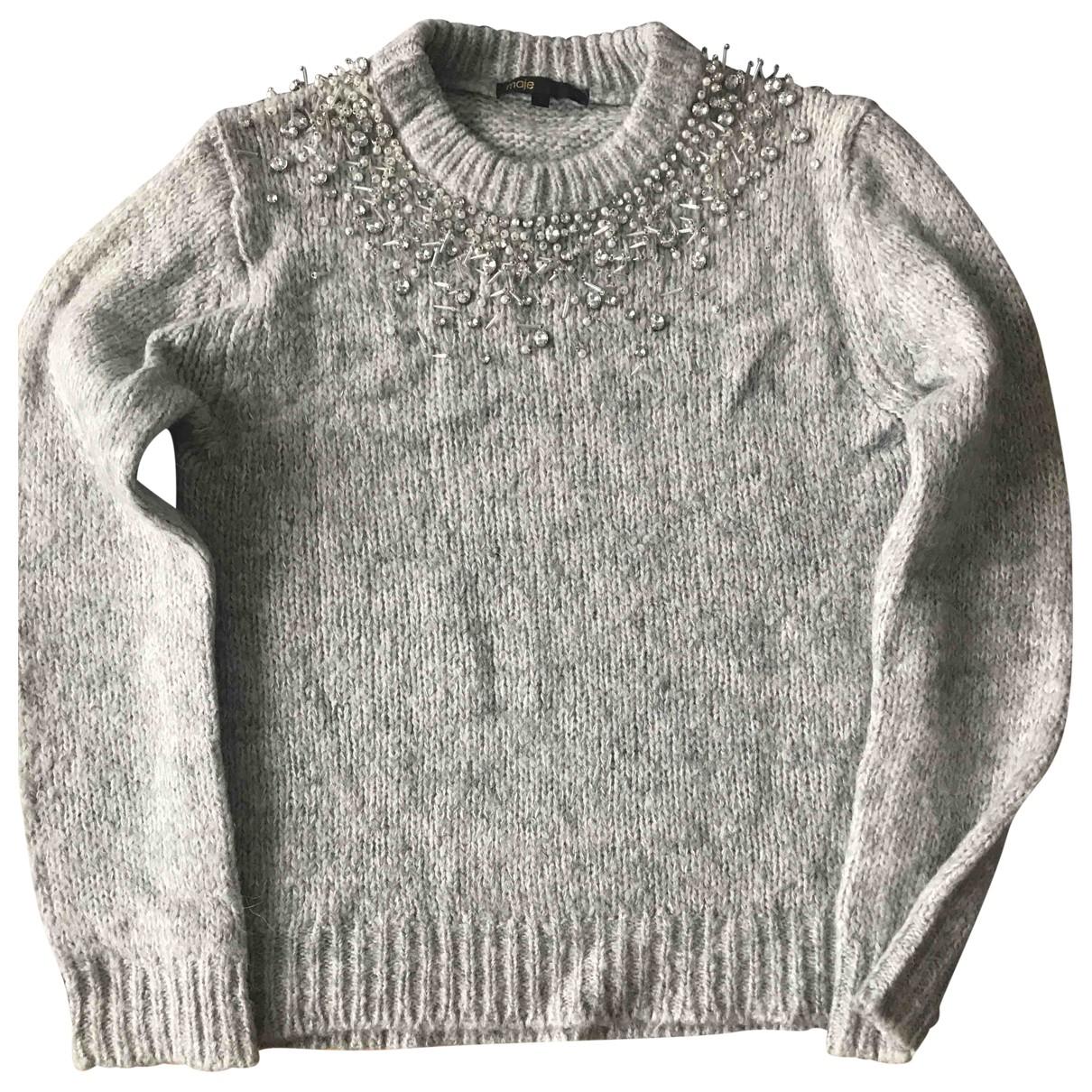 Maje - Pull   pour femme en laine - gris