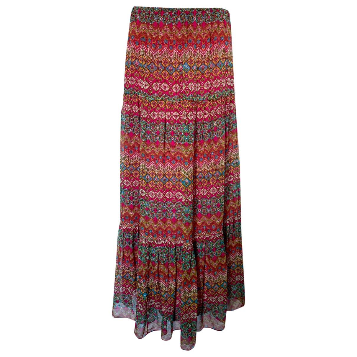 Diane Von Furstenberg - Jupe   pour femme en soie - bordeaux