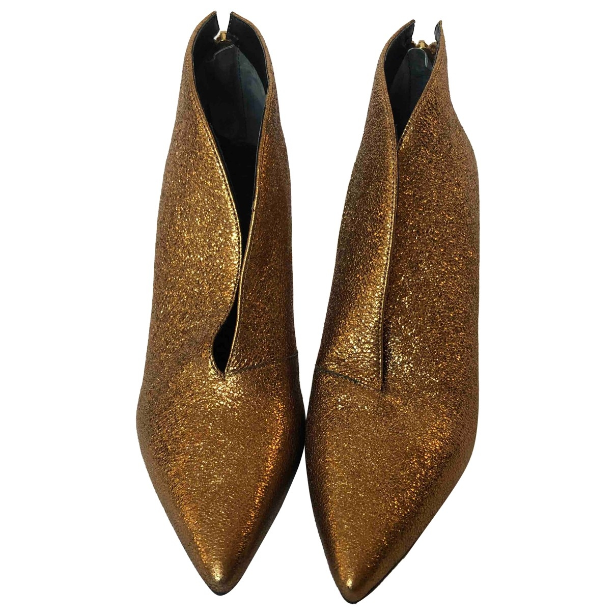 Non Signé / Unsigned \N Metallic Leather Ankle boots for Women 37 EU