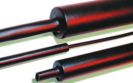 HellermannTyton Adhesive Lined Heat Shrink Tubing, Black 50mm Sleeve Dia. x 1m Length 4:1 Ratio, MA47 Series