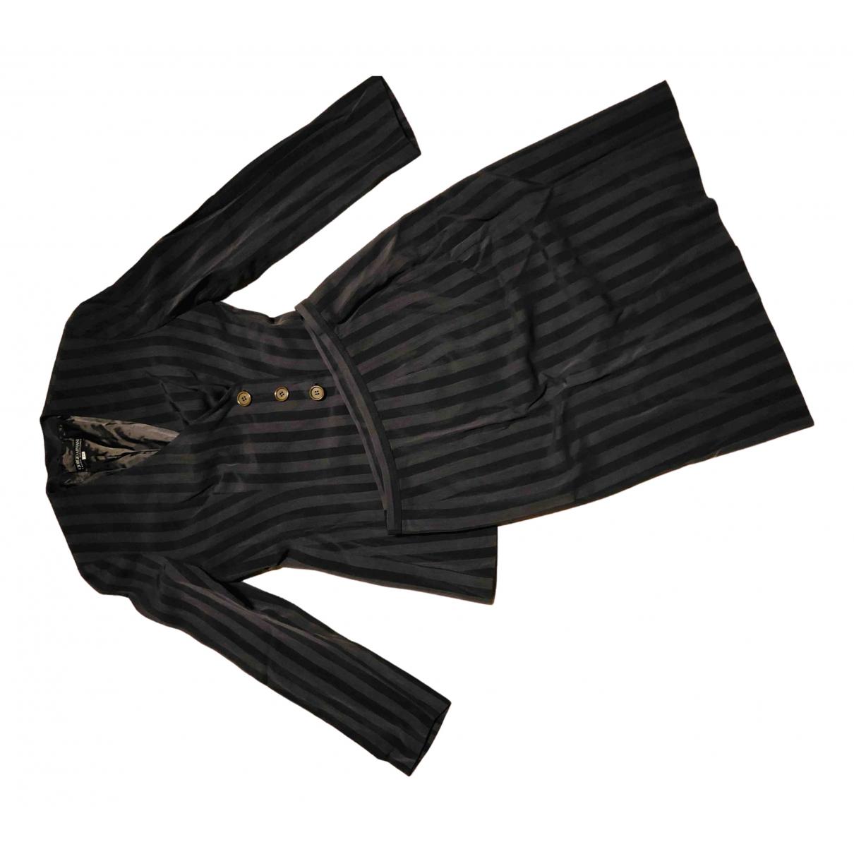 Giorgio Armani - Veste   pour femme en laine - anthracite