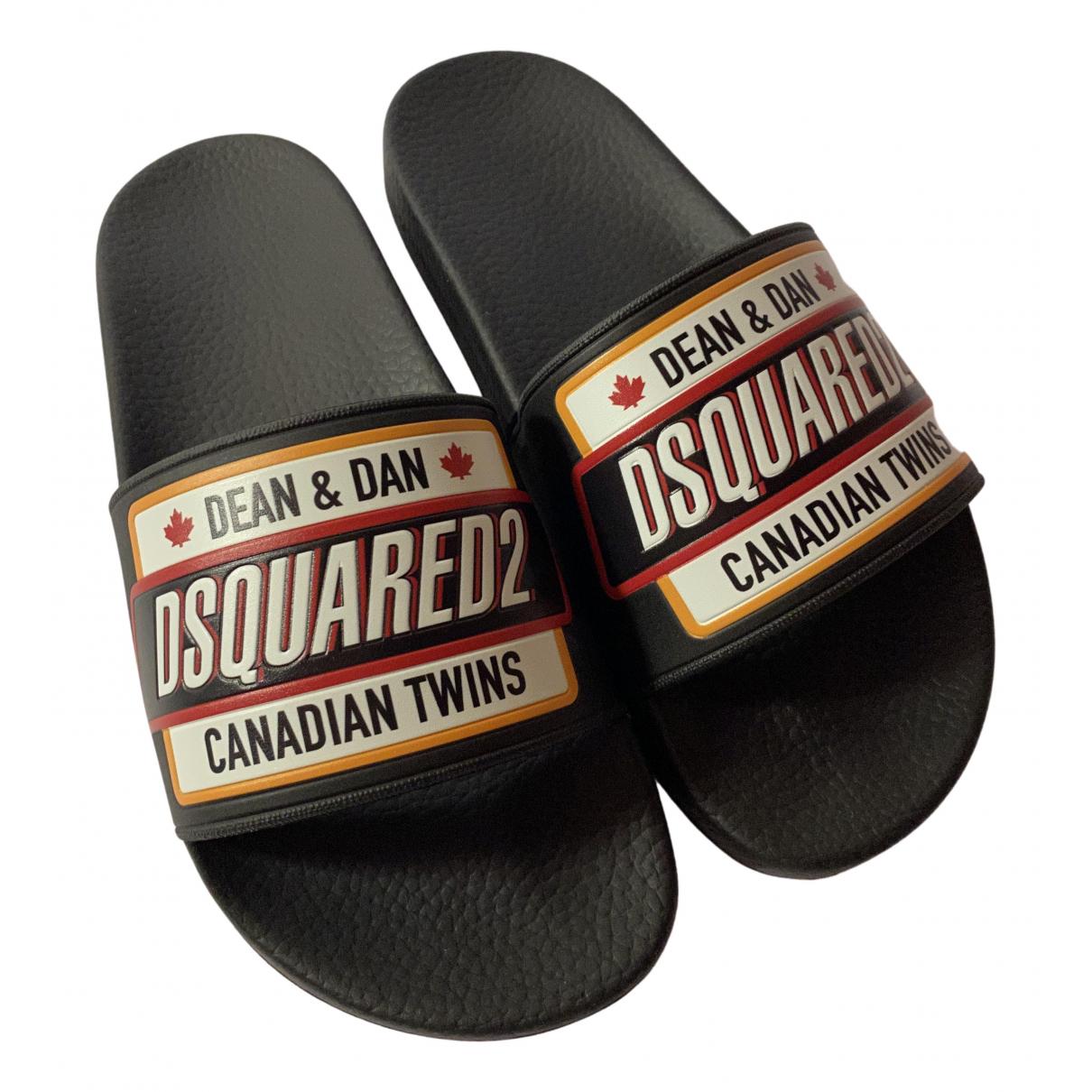 Dsquared2 - Sandales   pour femme en caoutchouc - noir