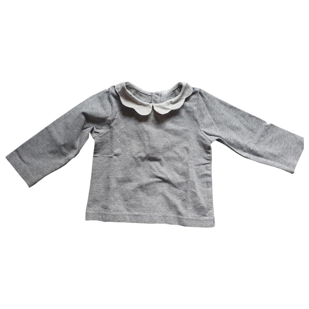 Jacadi \N Oberteile in  Grau Baumwolle
