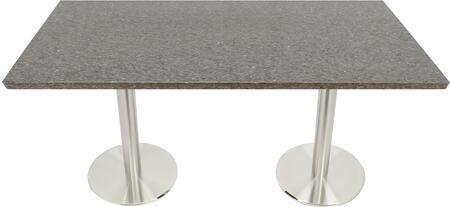 Q405 30X72-SS14-17D 30x72 Storm Gray Quartz Tabletop with 17