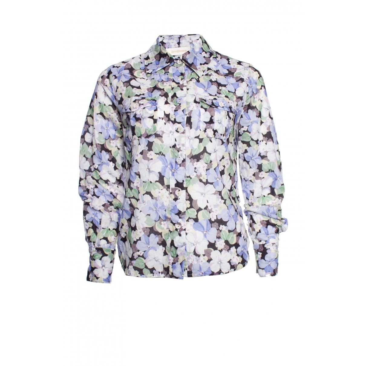 Zimmermann - Top   pour femme en coton - multicolore