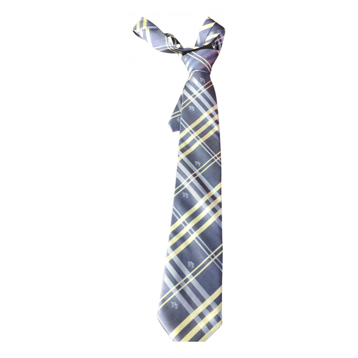 Burberry - Cravates   pour homme en soie - gris