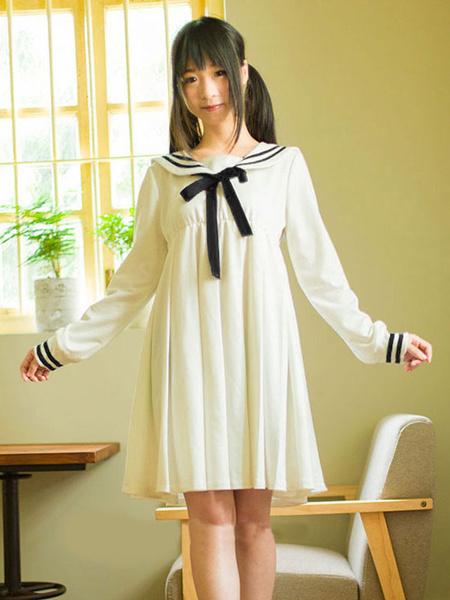 Milanoo Vestido de Lolita 2020 de algodon a rayas con lazo