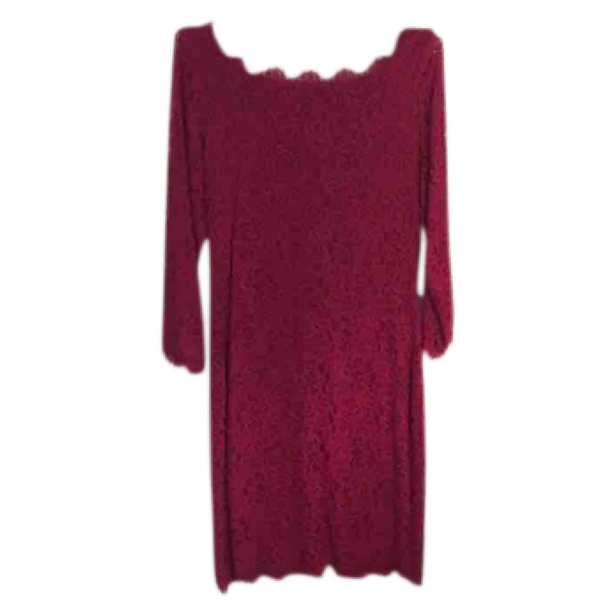 Diane Von Furstenberg - Robe   pour femme en dentelle - rose