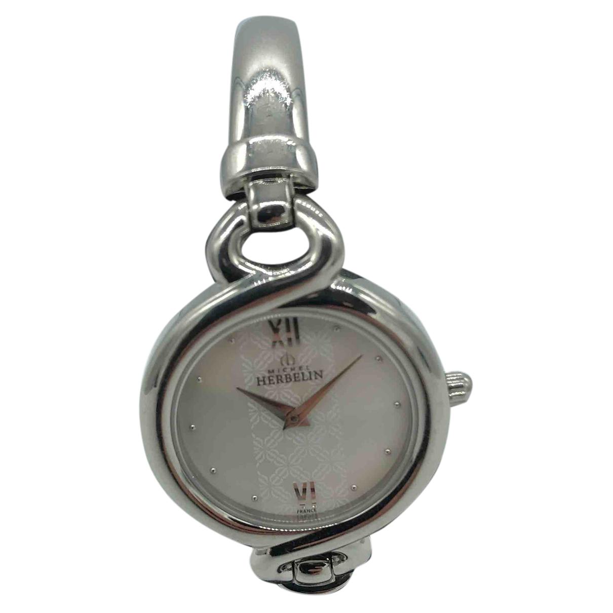 Michel Herbelin \N Uhr in  Silber Stahl
