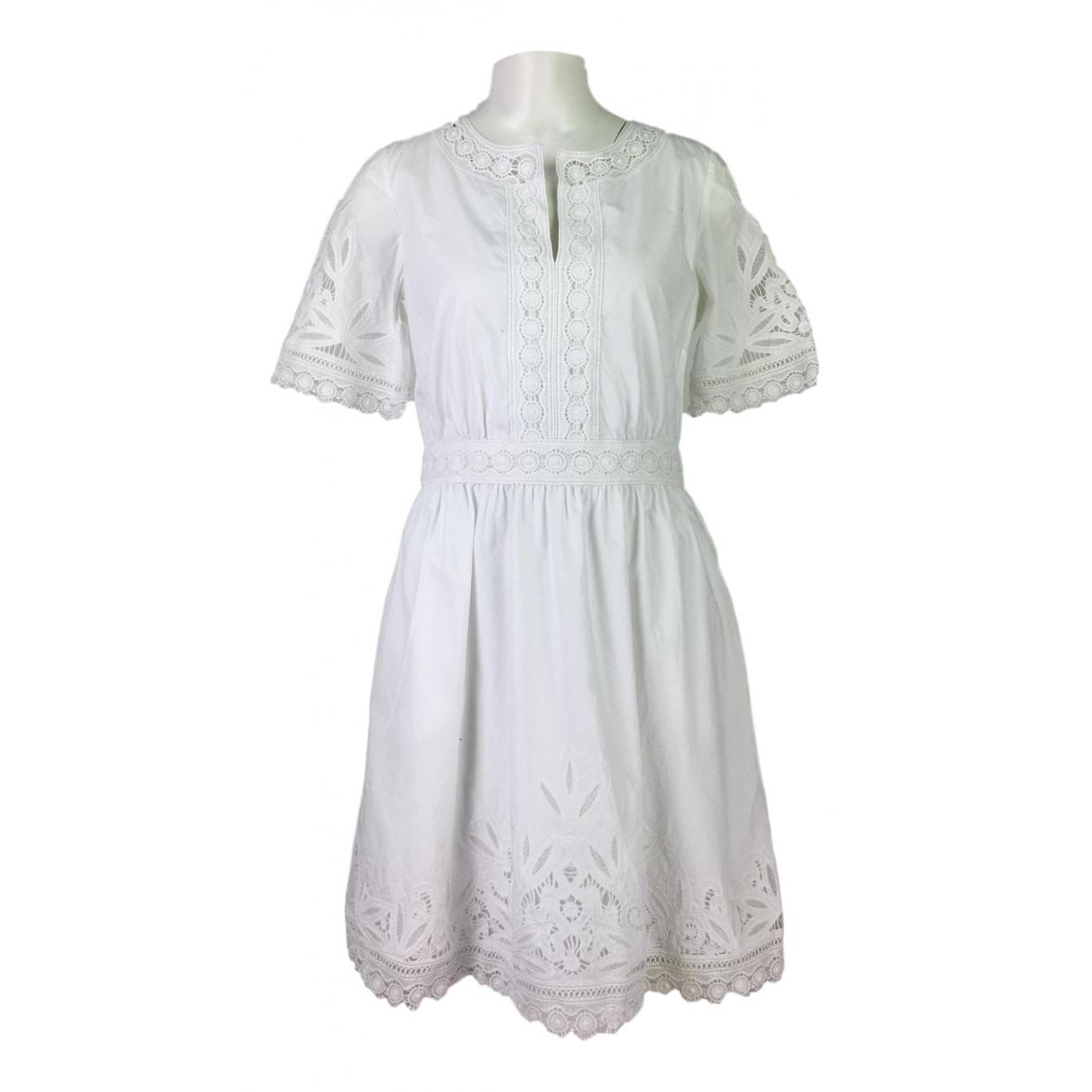 Tory Burch \N Kleid in  Weiss Baumwolle