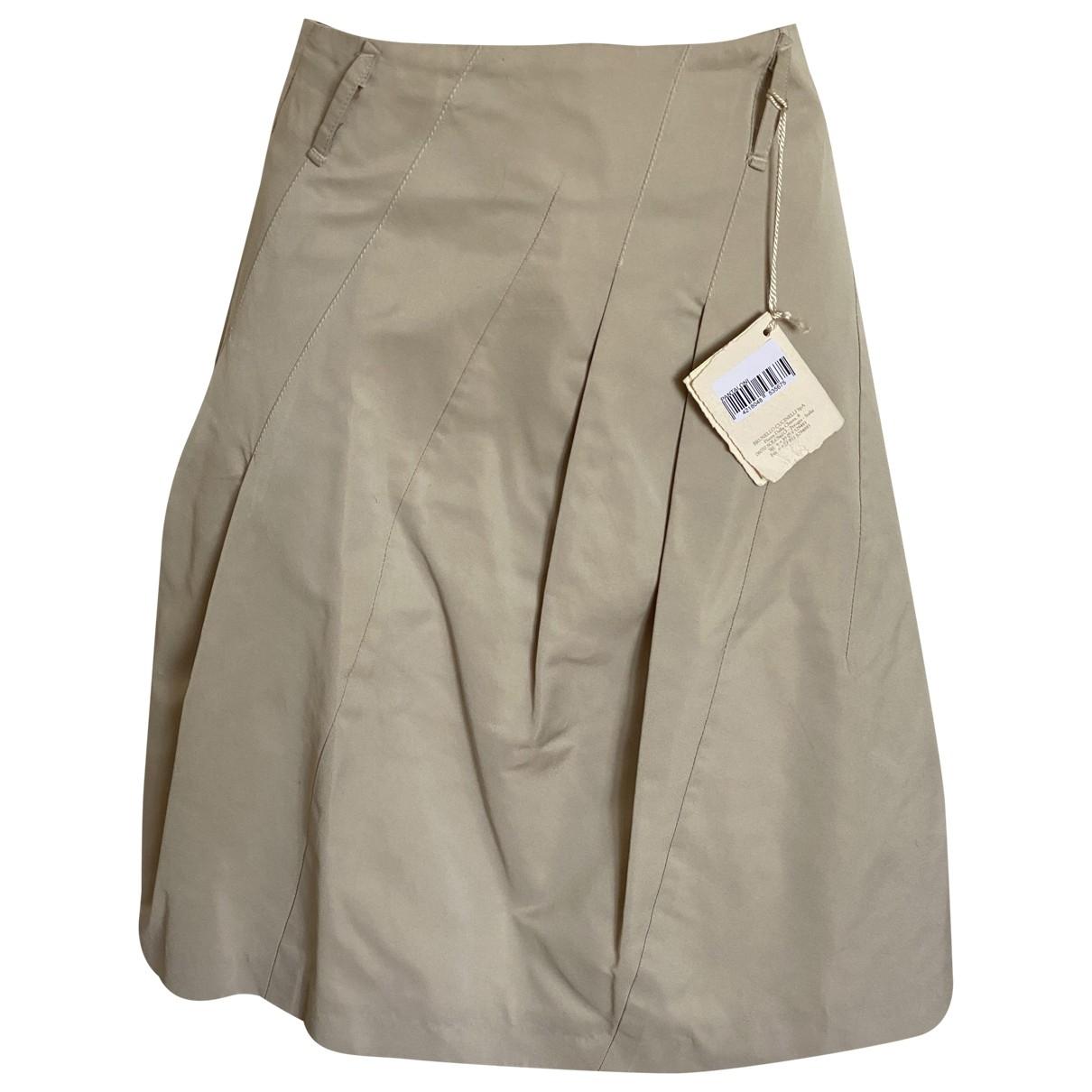 Brunello Cucinelli \N Beige skirt for Women 42 IT