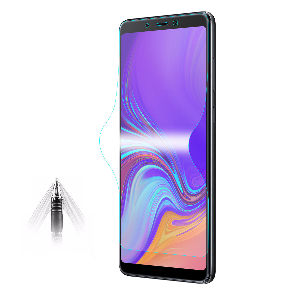 Enkay Hydrogel TPU Screen Protector For Samsung Galaxy A9 2018 3D Curved Edge Full Screen Cover Film