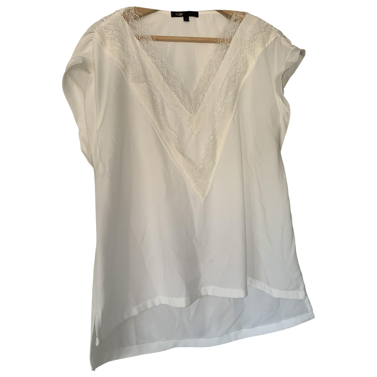 Maje \N Top in  Weiss Polyester