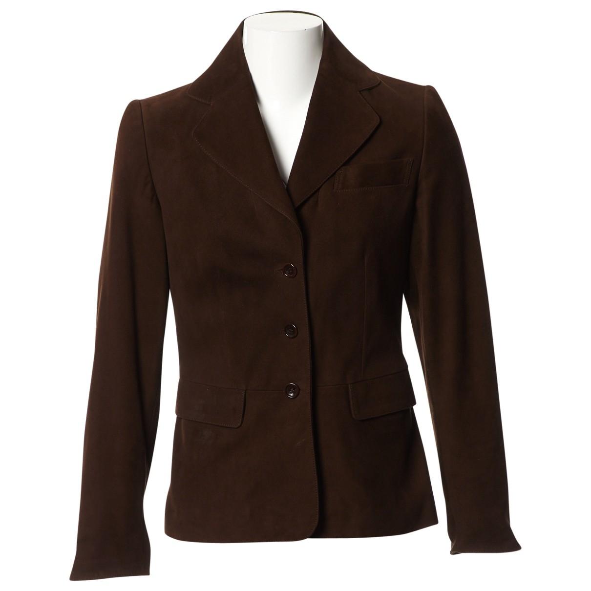 Loewe \N Brown Suede jacket for Women 38 FR