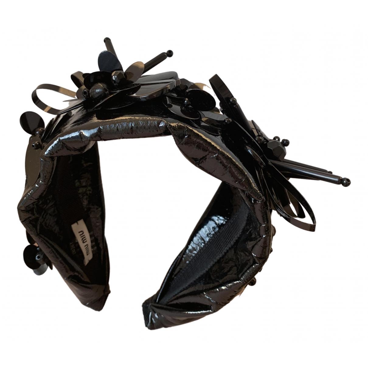 Miu Miu \N Black Cloth Hair accessories for Women \N