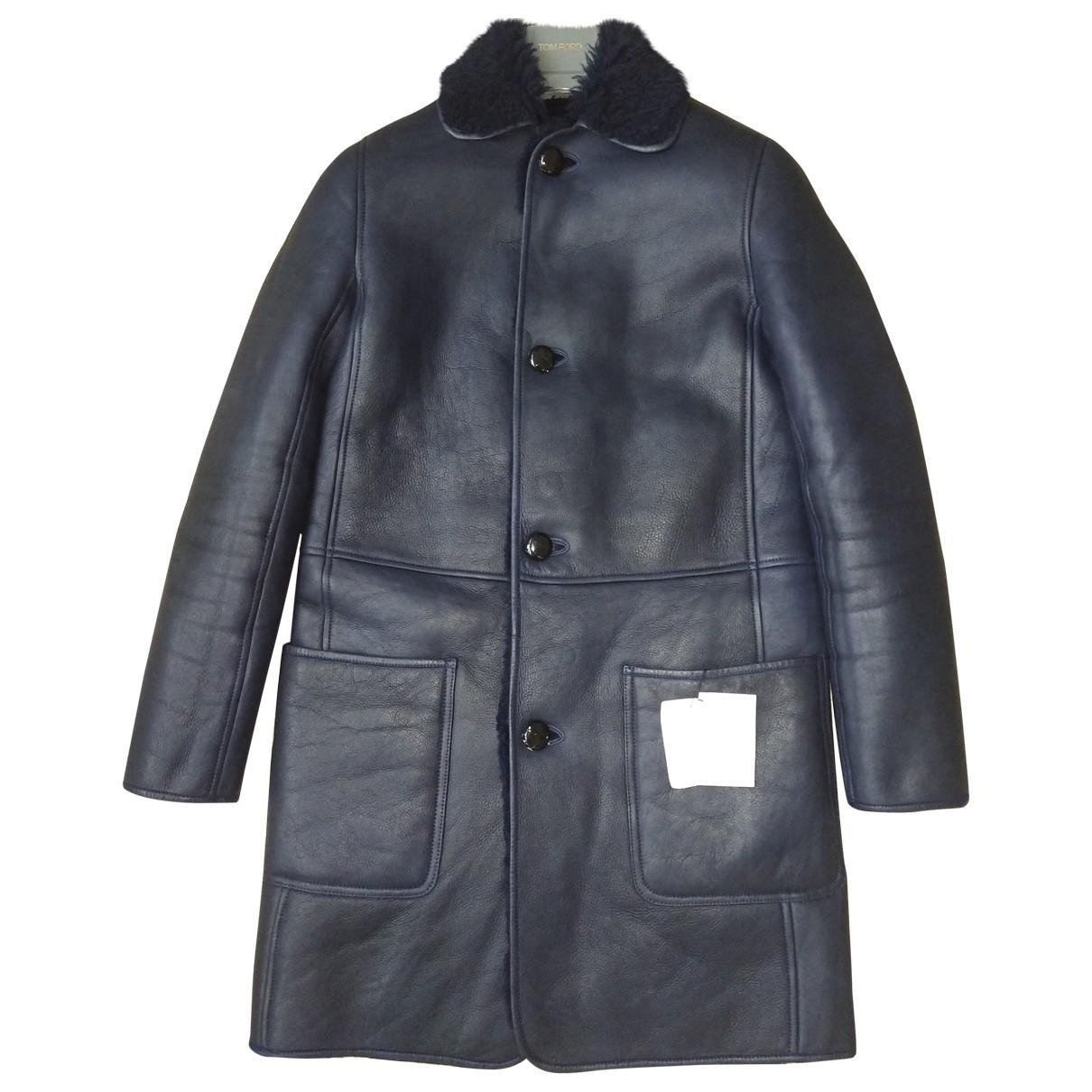 Celine \N Navy Shearling coat for Women 36 FR
