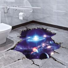 Wandaufkleber mit Galaxie Muster