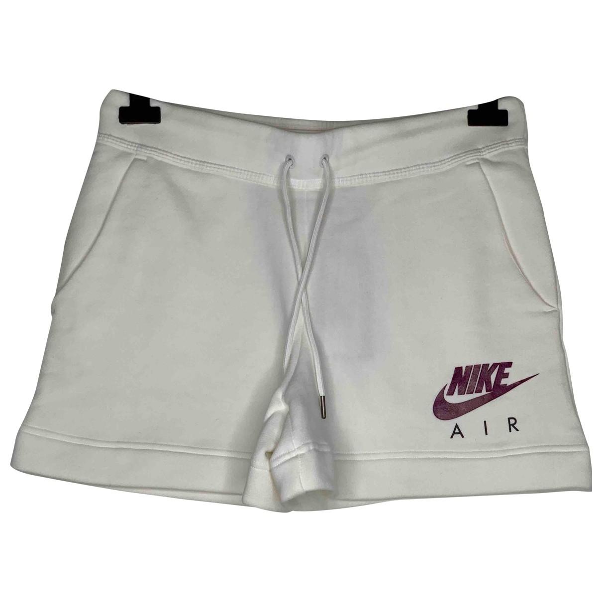 Nike - Short   pour femme en coton - blanc