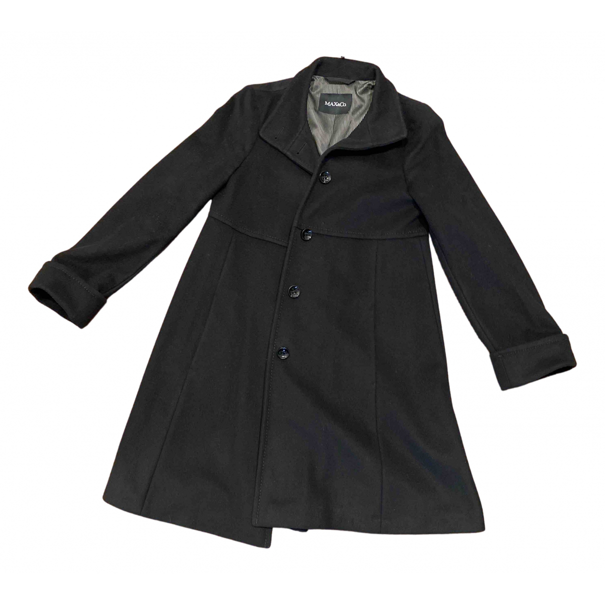Max & Co N Black Wool coat for Women 40 IT