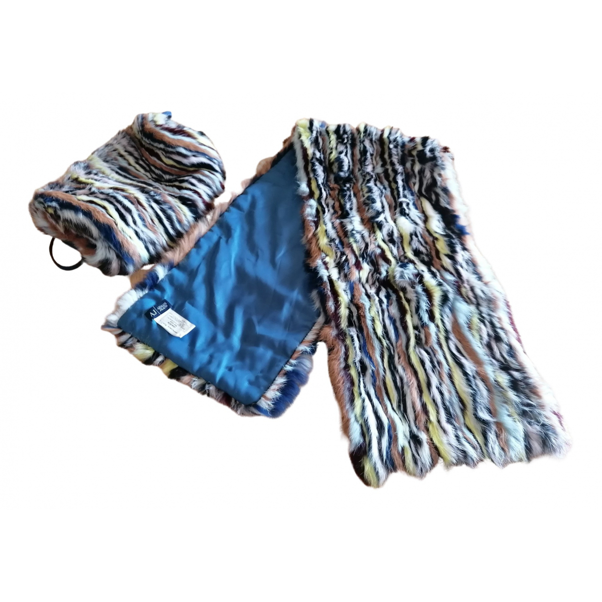 Giorgio Armani N Black Fur scarf for Women N
