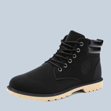 Men Lace-up Front Ankle Boots
