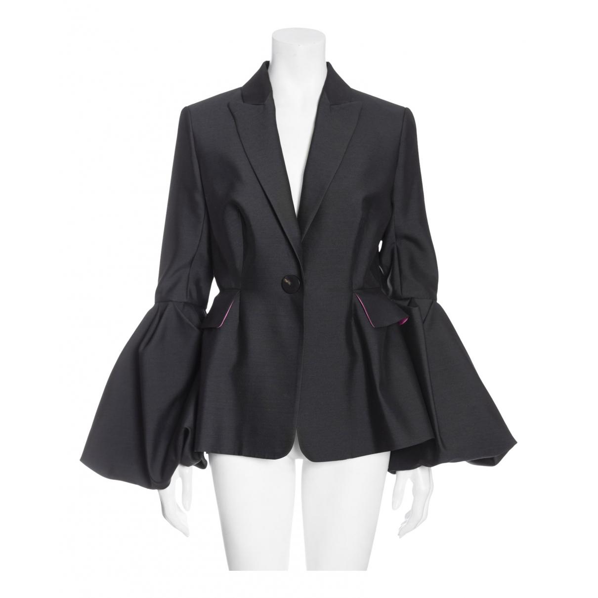 Roksanda - Top   pour femme en laine - noir