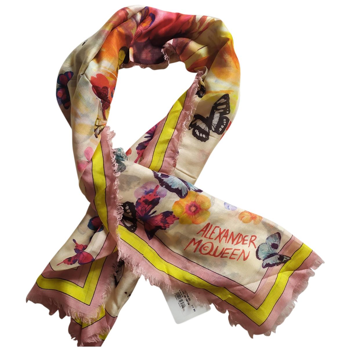 Alexander Mcqueen \N Pink Cotton scarf for Women \N