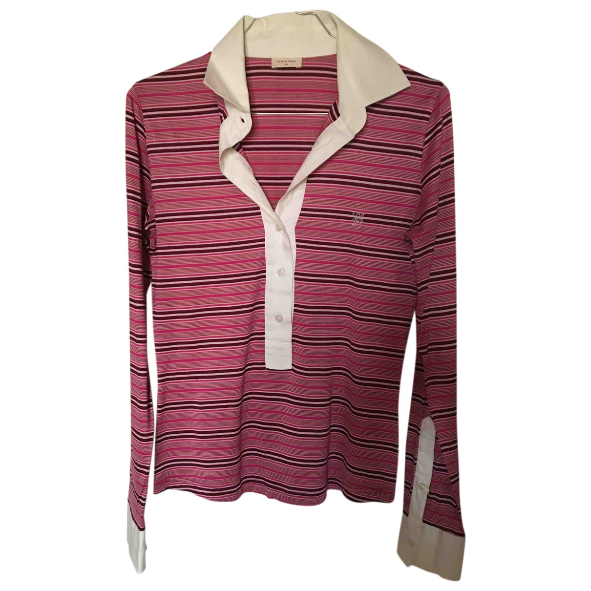 Mauro Grifoni N Pink Cotton  top for Women 44 IT