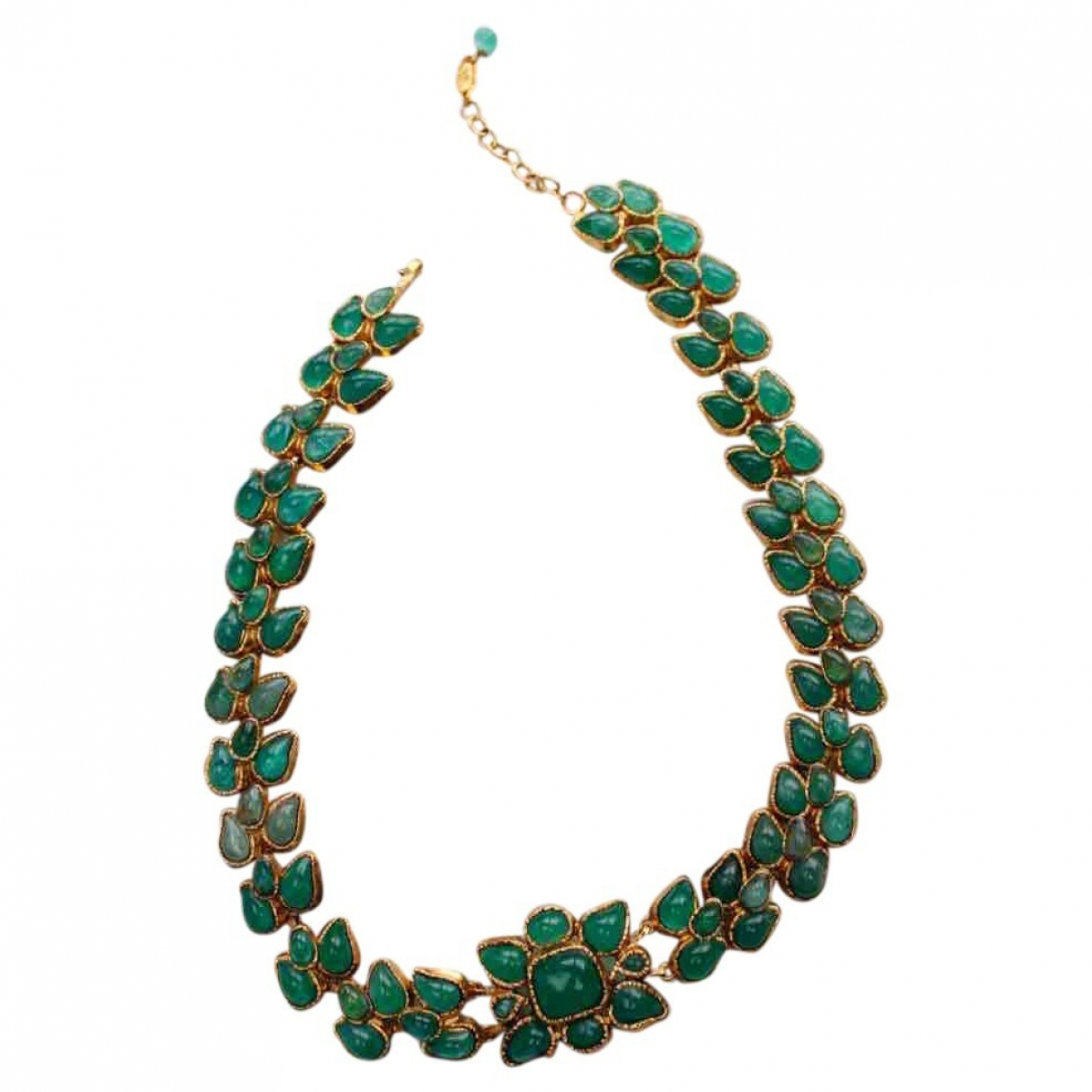 Chanel Baroque Green Glass necklace for Women \N