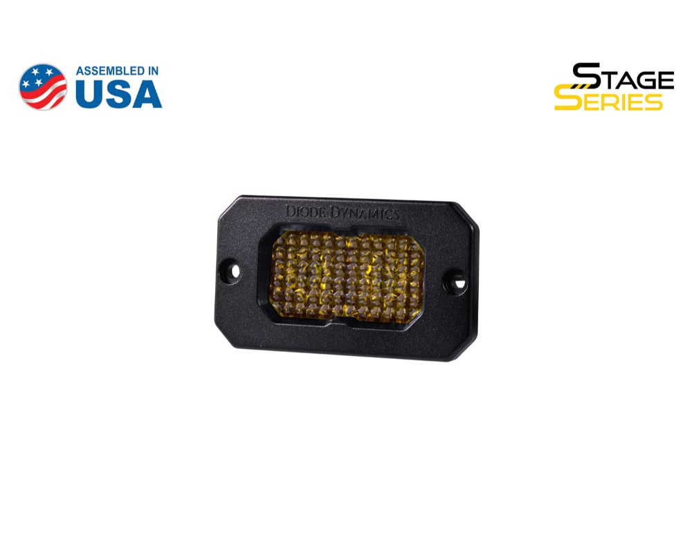 Diode Dynamics DD6430S Stage Series 2 Inch LED Pod, Sport Yellow Flood Flush ABL Each