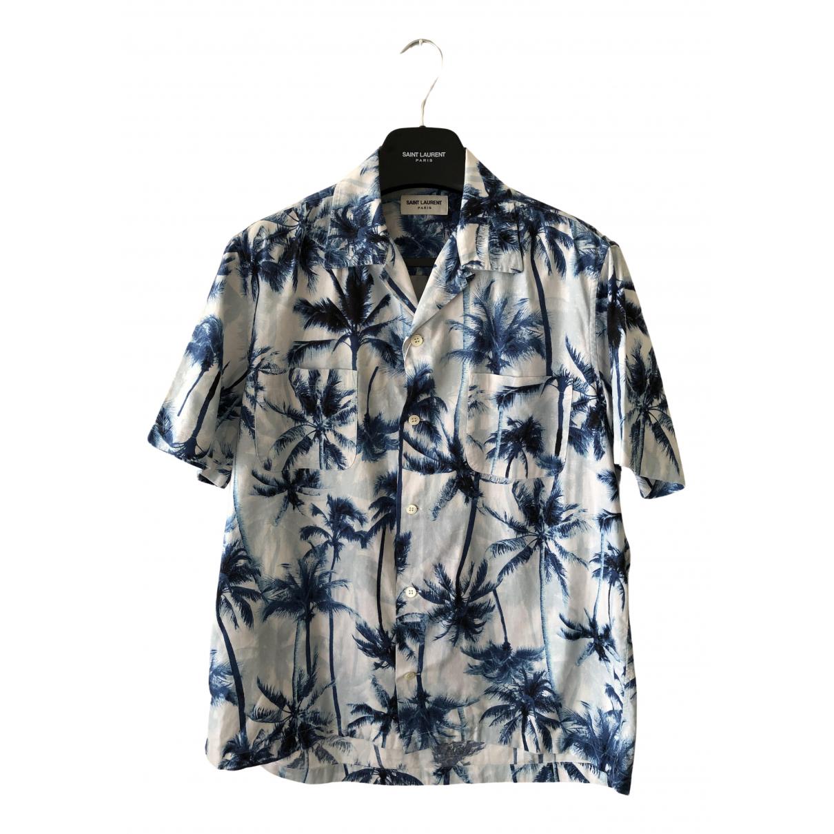 Saint Laurent N Blue Cotton Shirts for Men 38 EU (tour de cou / collar)