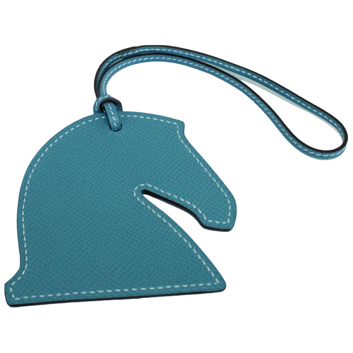 Hermes \N Taschenschmuck in  Blau Leder