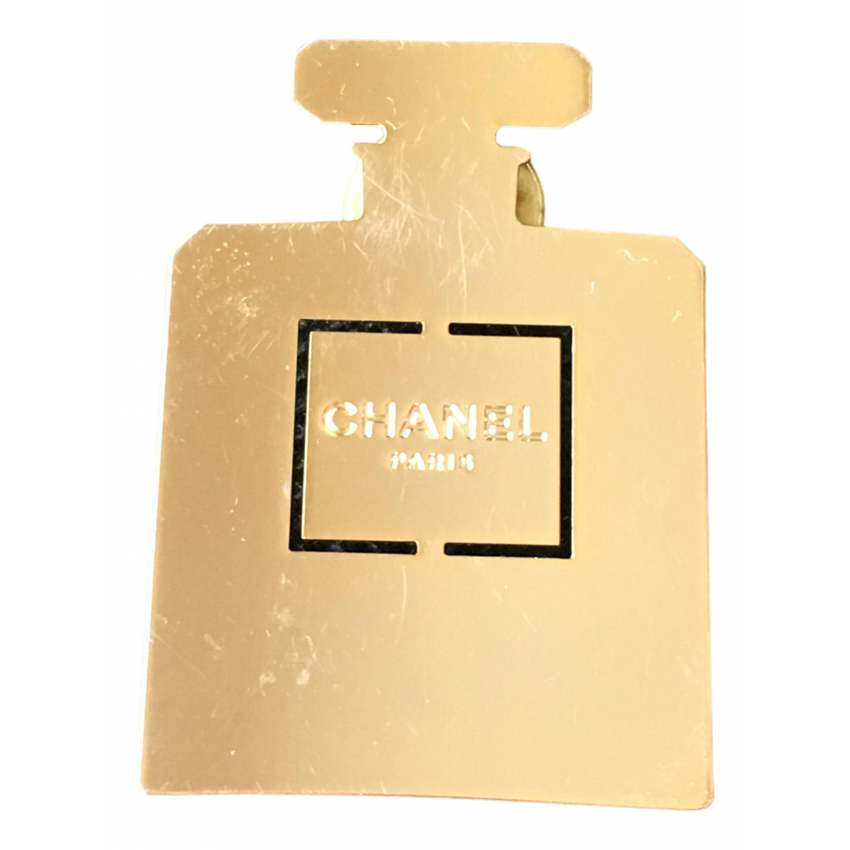 Chanel \N Brosche in  Gold Metall