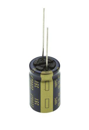 Panasonic 2200μF Electrolytic Capacitor 35V dc, Through Hole - EEUFK1V222 (5)