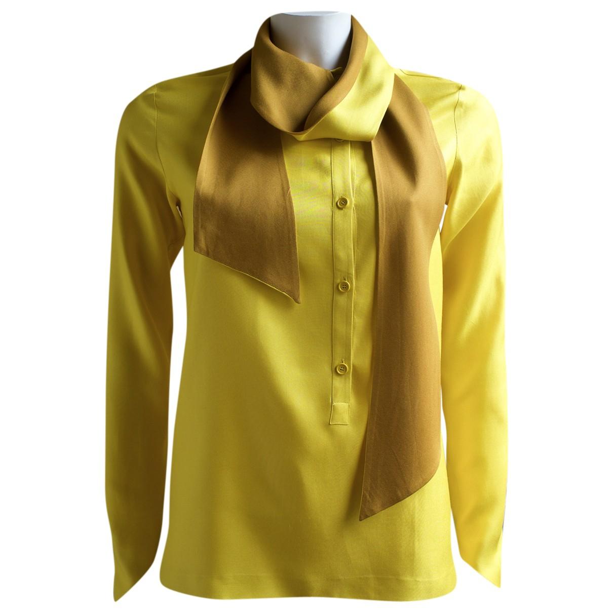 Hermès \N Yellow Silk  top for Women 36 FR
