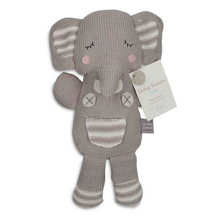Living Textiles Grey Theodore Elephant Knit Plush, One Size , Gray