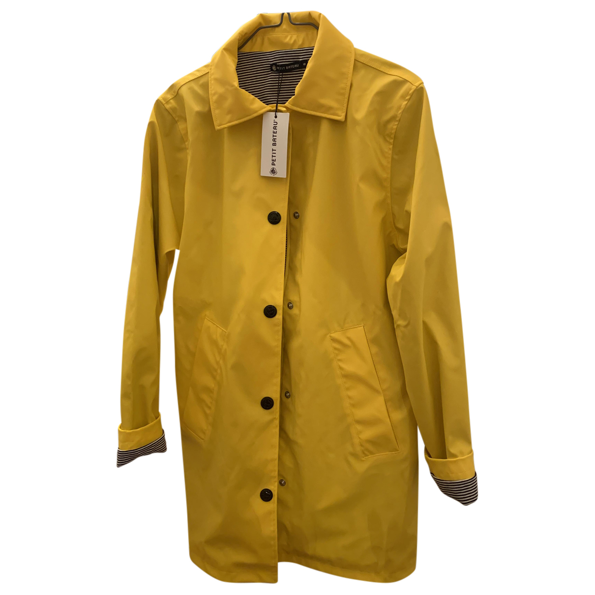 Petit Bateau N Yellow coat for Women 38 FR