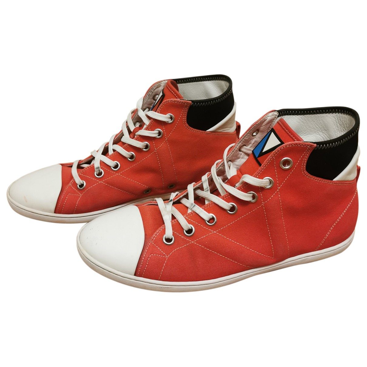 Louis Vuitton \N Red Cloth Trainers for Men 42 EU