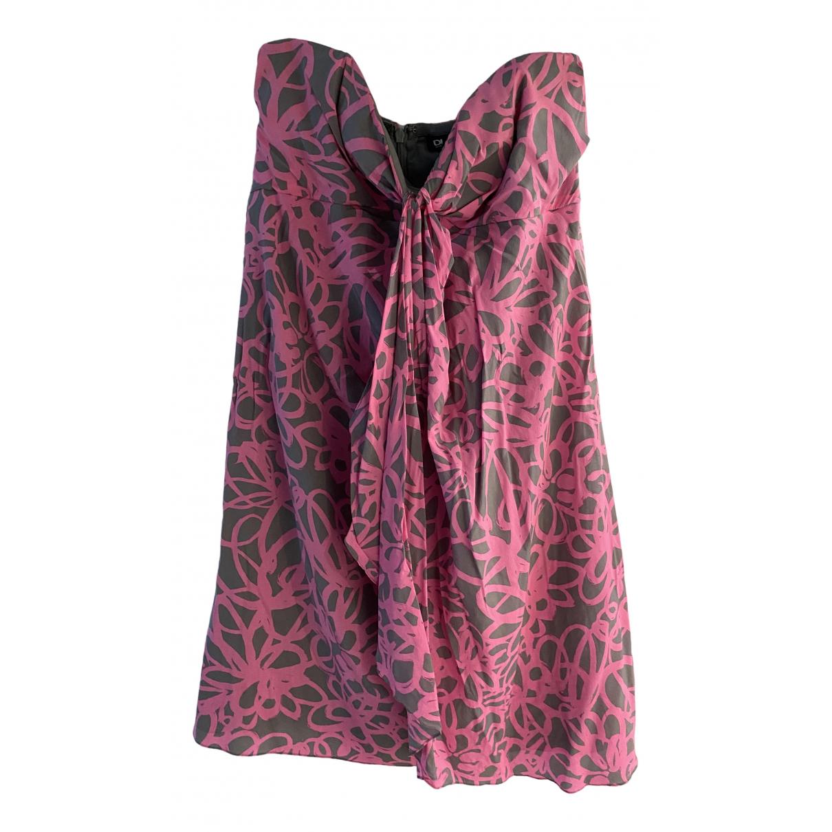 Dkny \N Kleid in  Rosa Seide