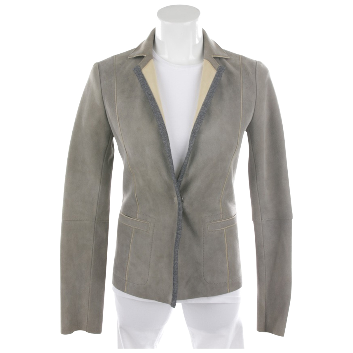 Autre Marque \N Green Leather jacket for Women 32 FR