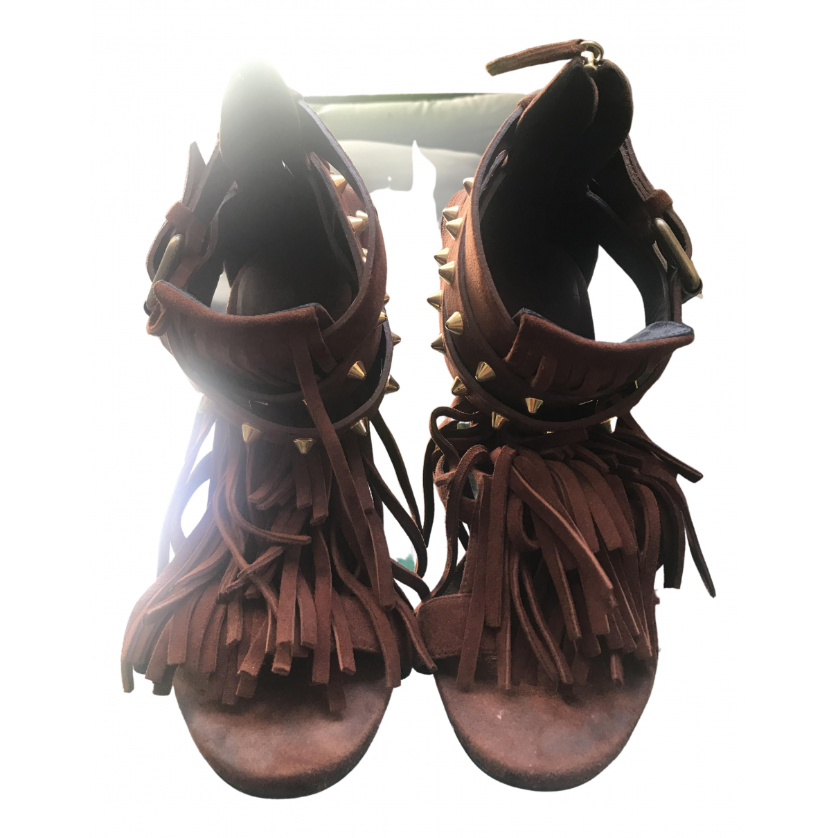 Giuseppe Zanotti \N Brown Suede Sandals for Women 39.5 EU