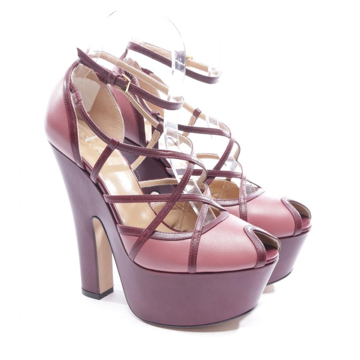 Dsquared2 - Sandales   pour femme en cuir - rose