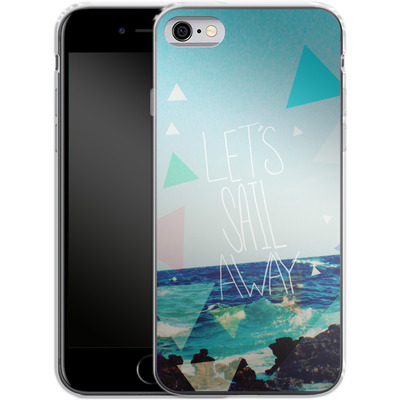 Apple iPhone 6 Silikon Handyhuelle - Lets Sail Away von Leah Flores