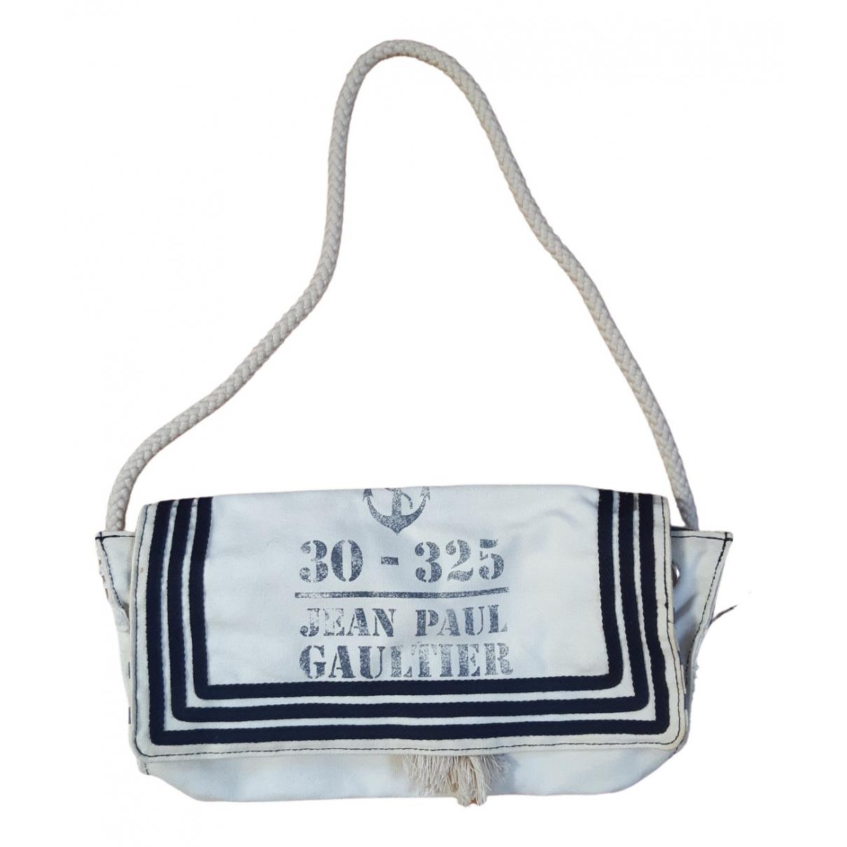 Jean Paul Gaultier \N Clutch in  Weiss Baumwolle