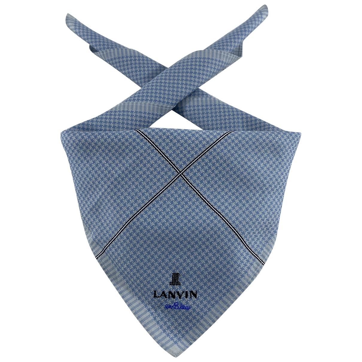 Lanvin \N Schal in  Blau Baumwolle