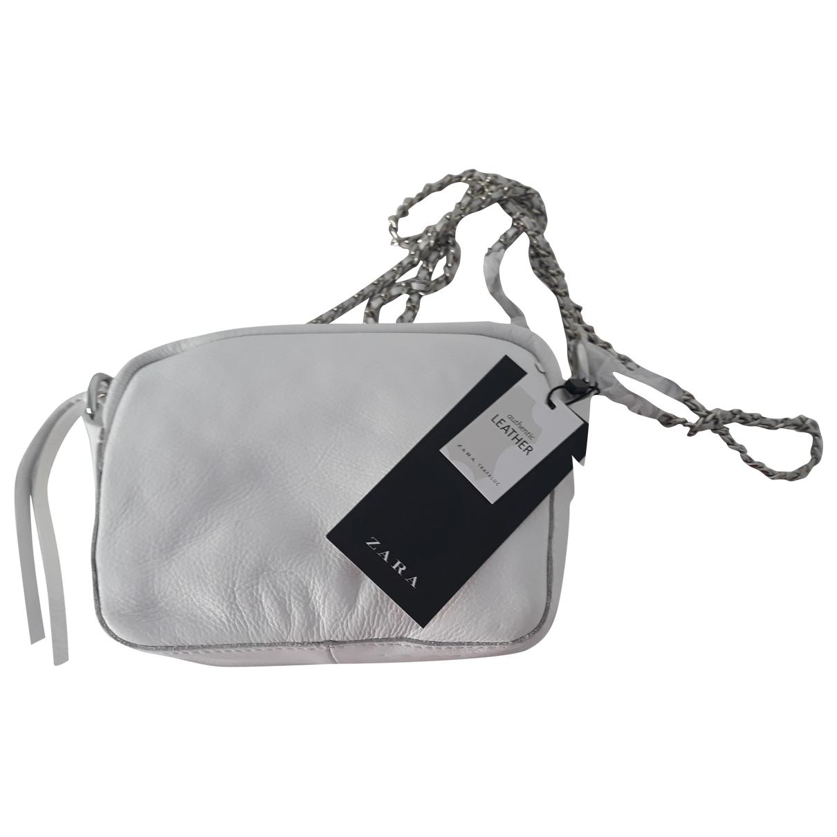 Zara \N White Leather handbag for Women \N