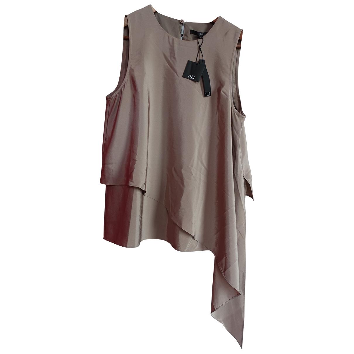 Tibi - Top   pour femme en soie - beige
