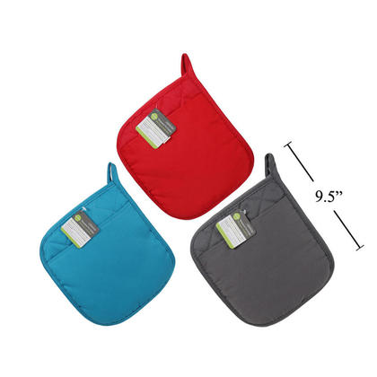 Cotton and Neoprene Pot Holder with Pocket, 7.75