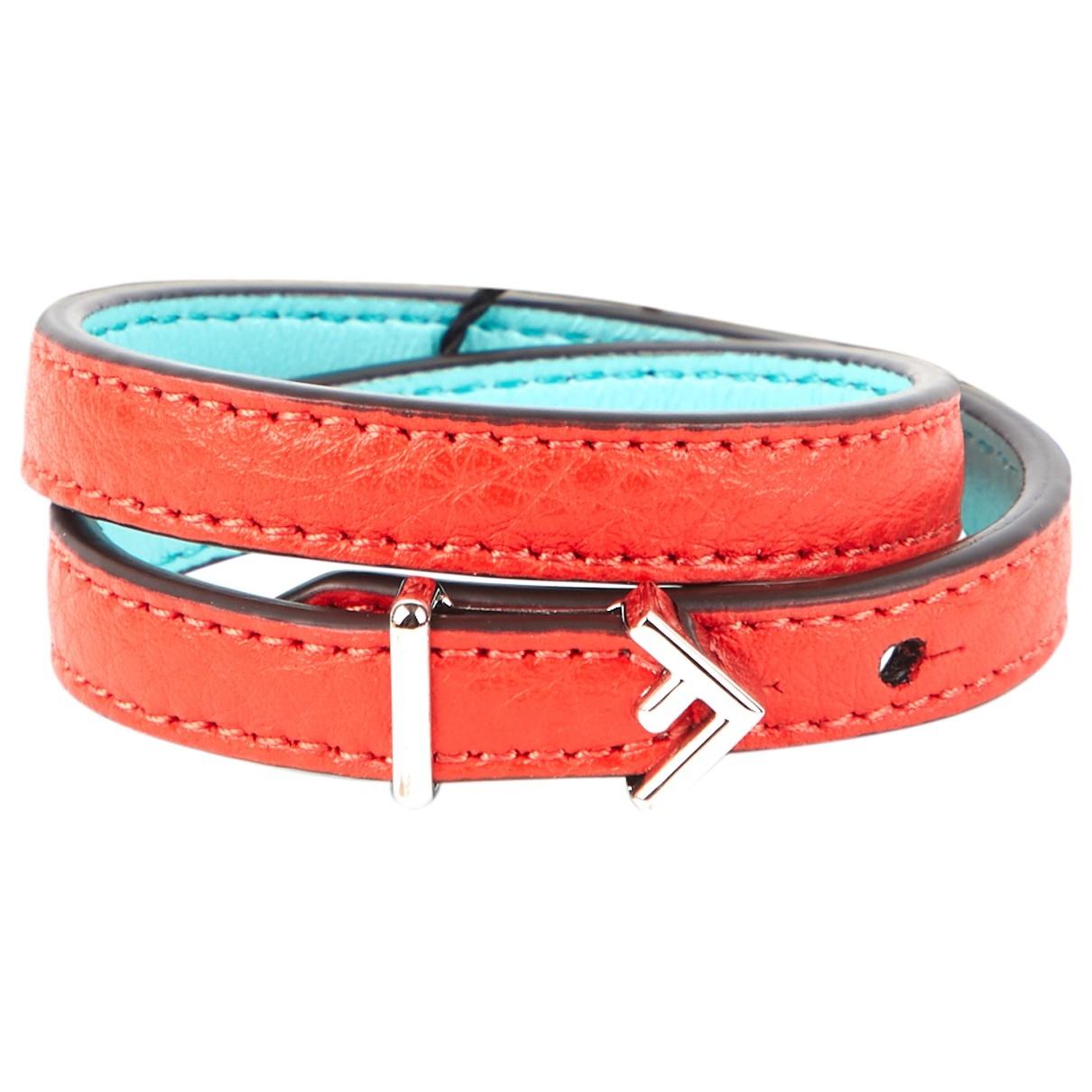 Fendi - Bracelet   pour femme en cuir - rouge